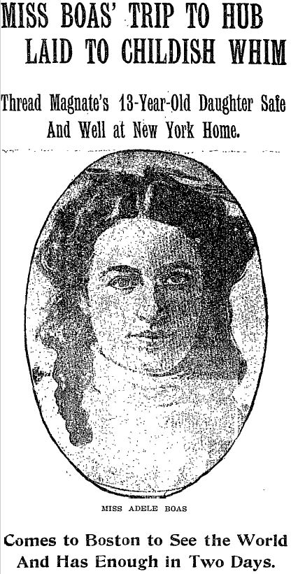 The front page of the Boston Globe from April 26, 1909