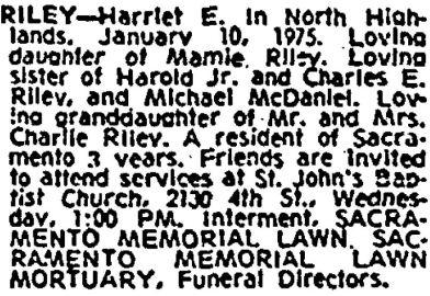 sac bee, 12 jan 1975, burial